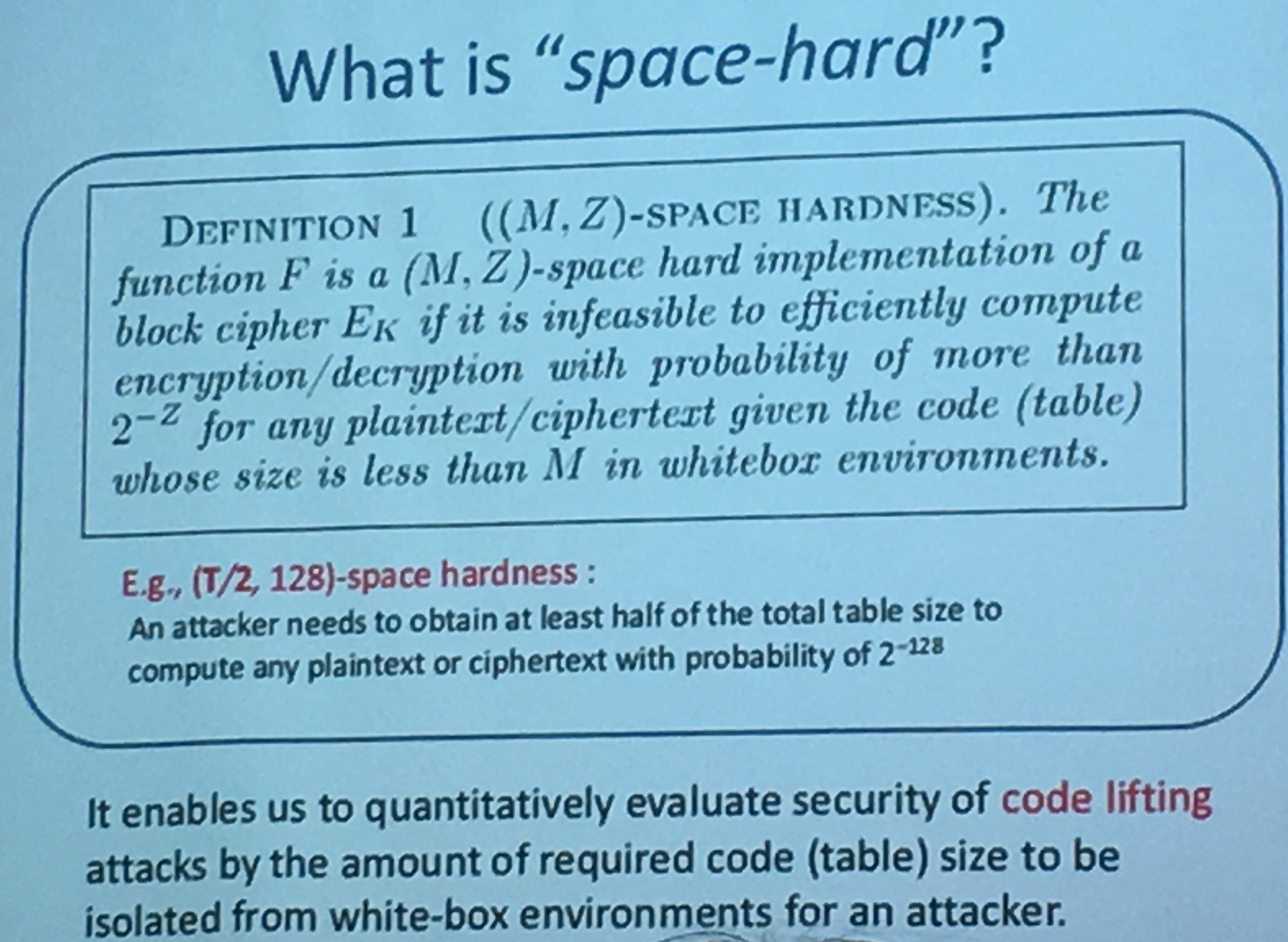 what is space hardness
