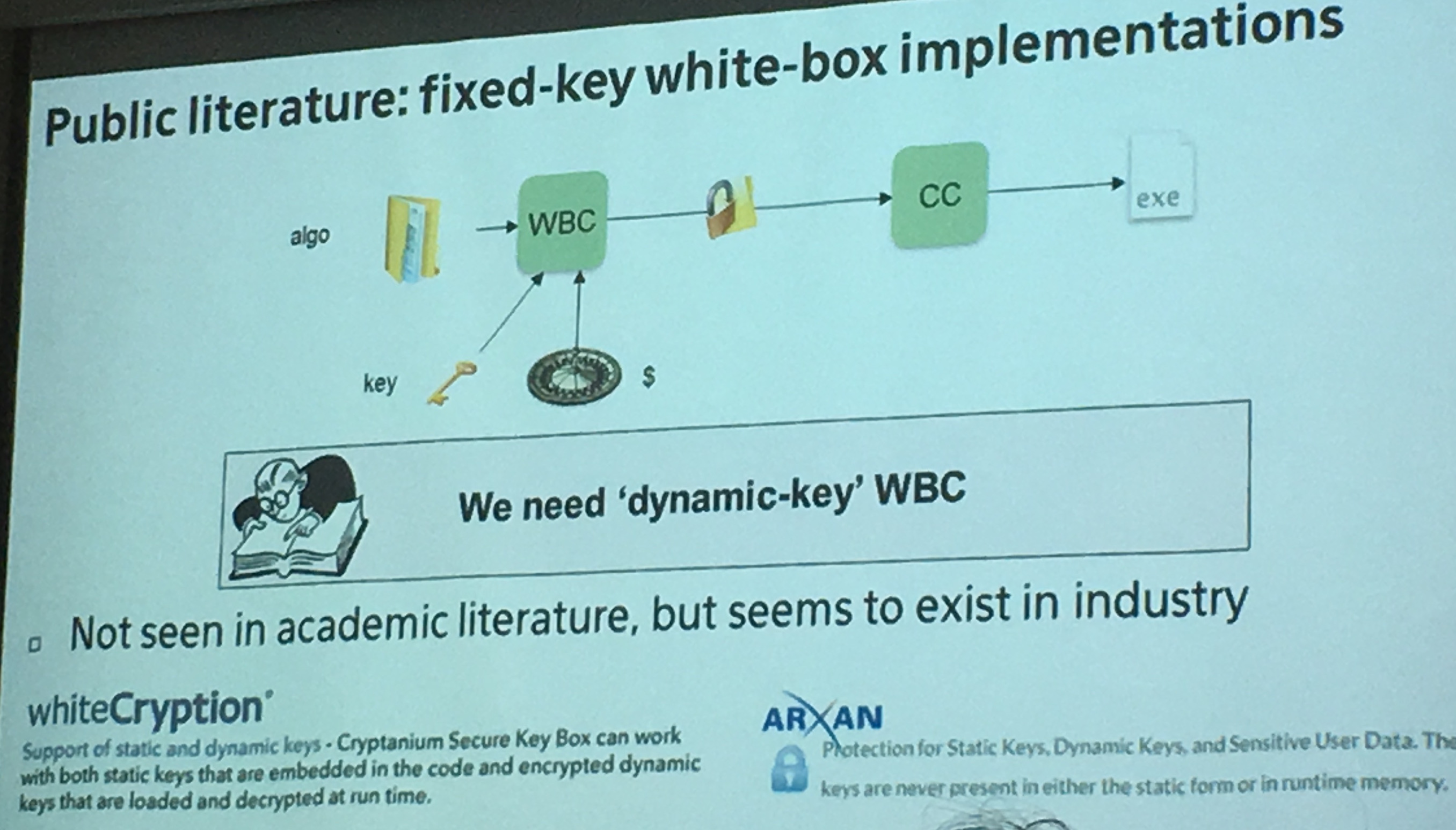 fixed-key white-box crypto