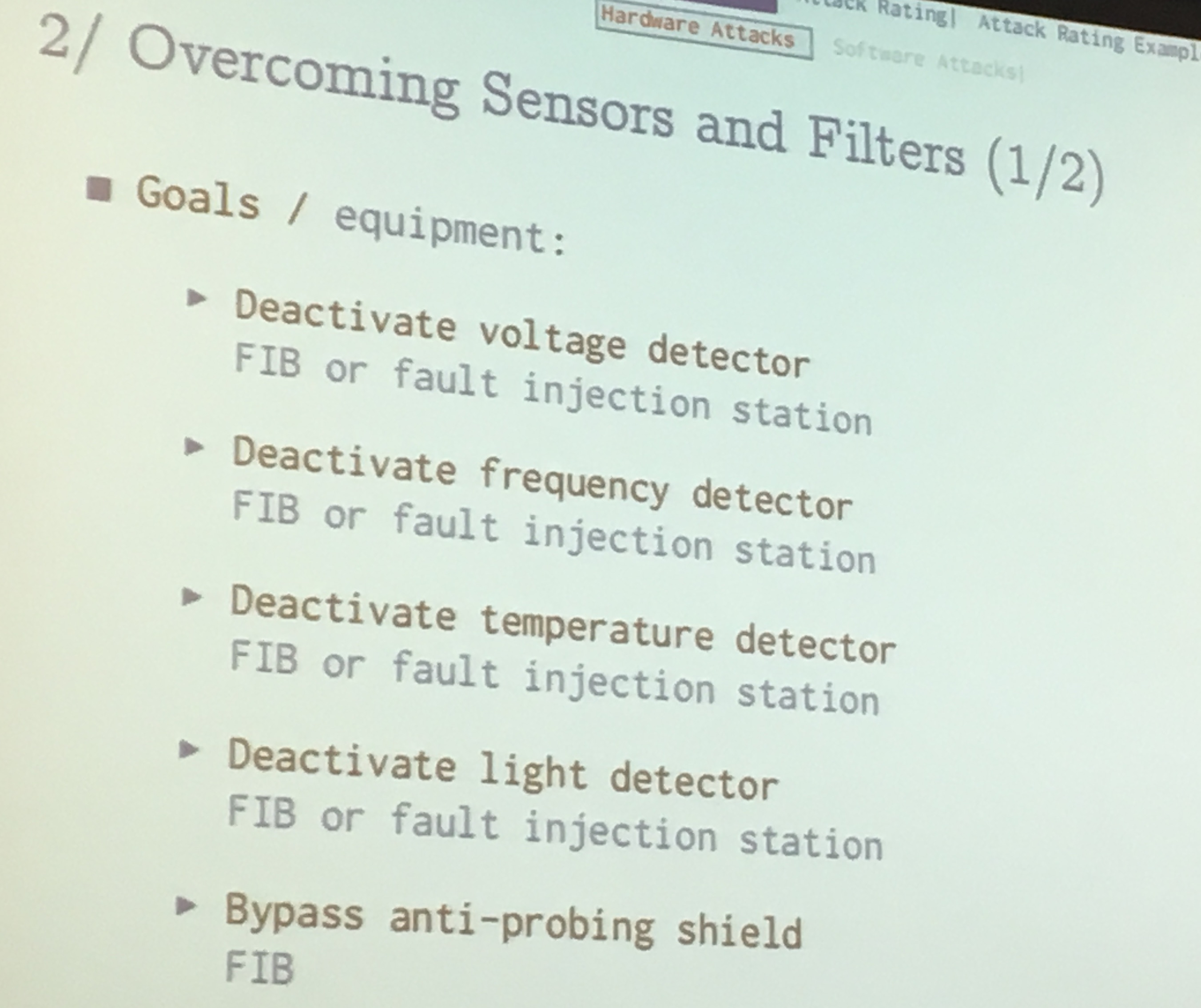overcoming sensors and filters