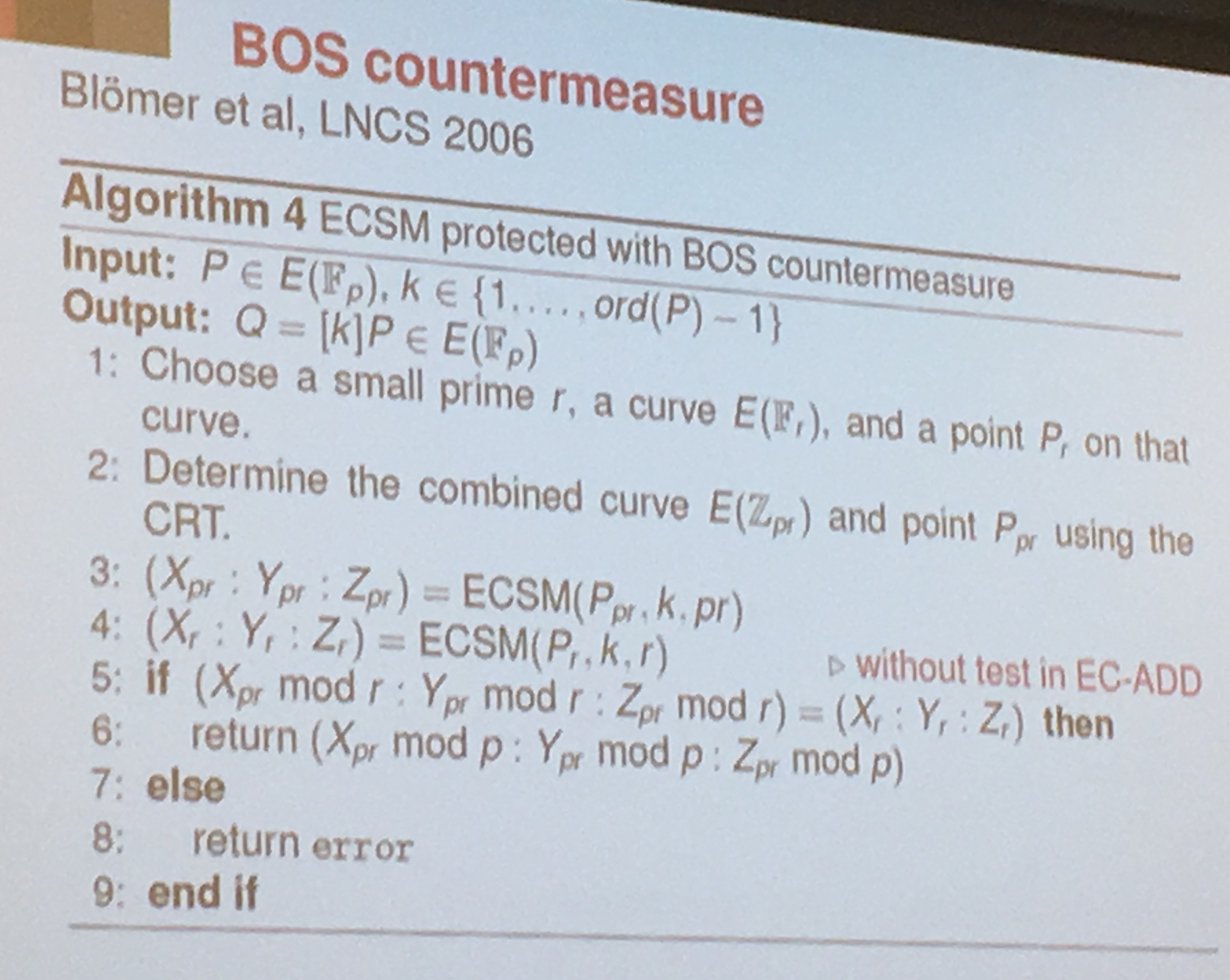 BOS countermeasure
