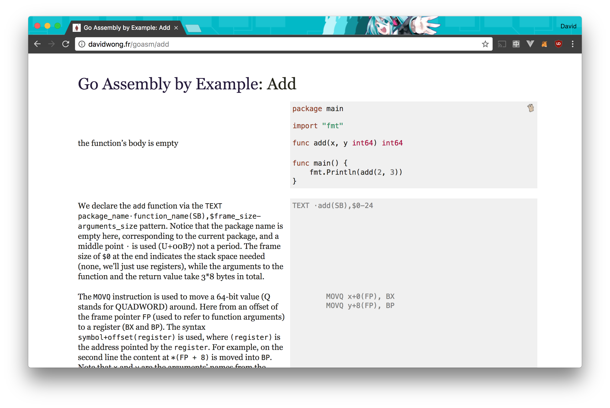 Go Assembly By Example